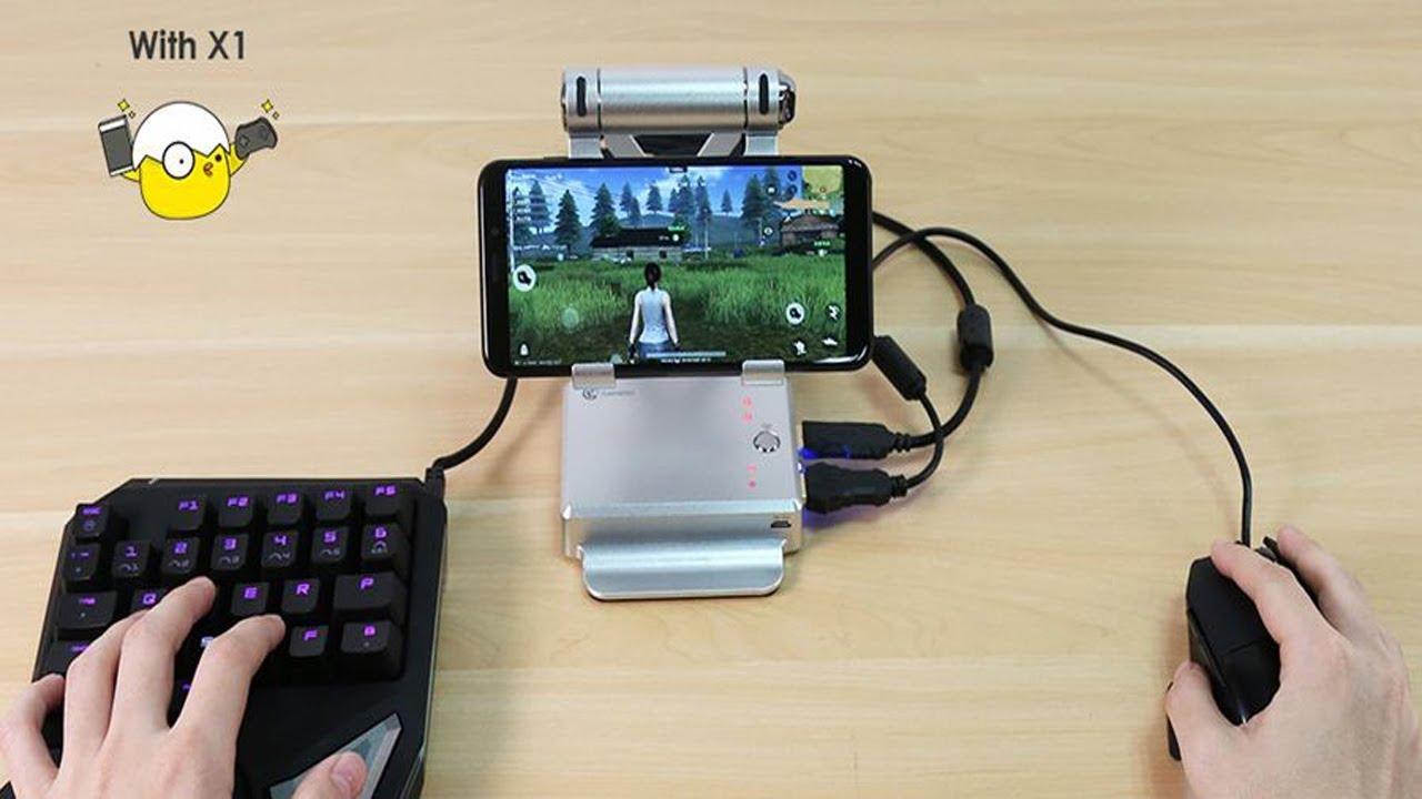 Teclado e Mouse para pubg e free fire mobile - YouTube