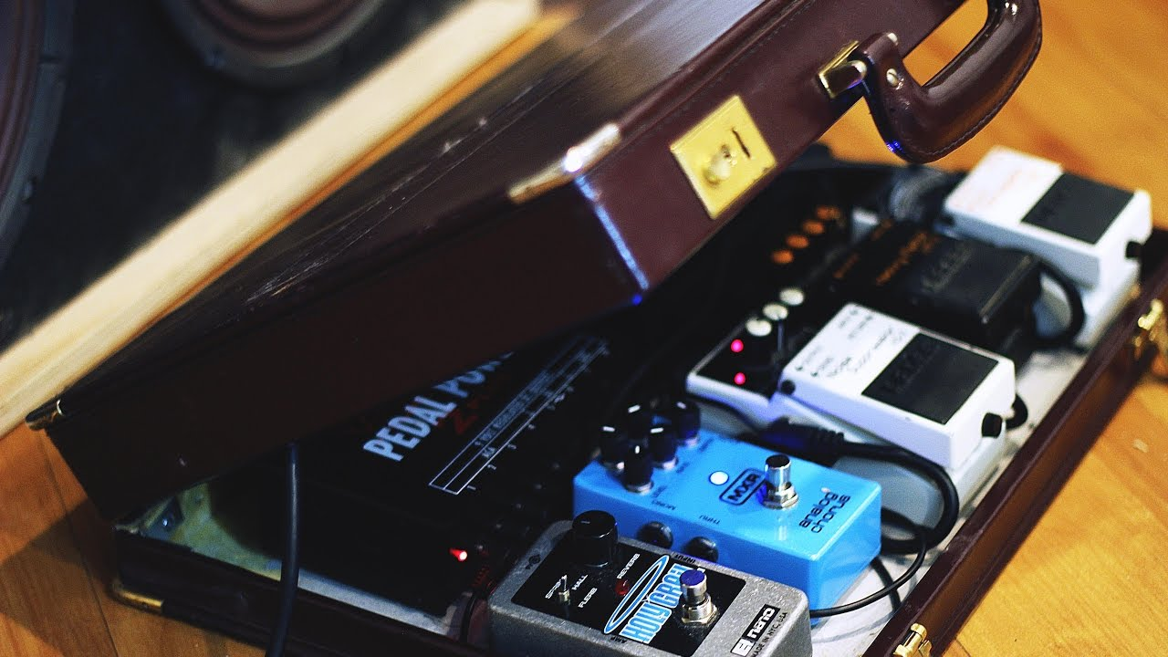 converting briefcase into guitar pedal board youtube. Black Bedroom Furniture Sets. Home Design Ideas