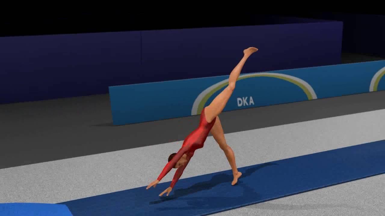 Oya Vault Xiaopeng Gymnastics Animation Fan Art Youtube