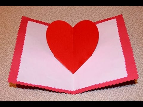видео: Как сделать объемную открытку на день Святого Валентина