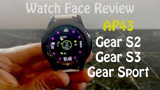 Watch Face Review : AP43 Gear S2 Gear S3 Gear Sport