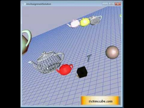 3D Computer Graphics using C, OpenGL and GLUT