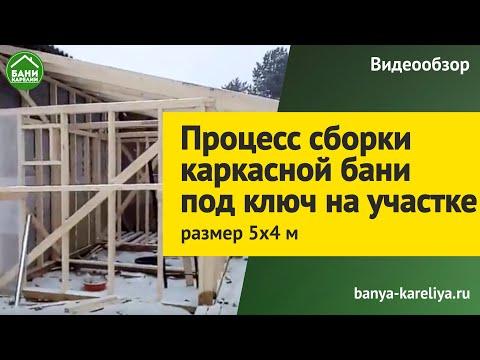 Каркасная Баня 5х4м строительство под ключ на участке