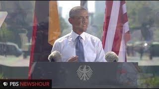 Watch Angela Merkel and Barack Obama's Remarks from Brandenburg Gate in Berlin
