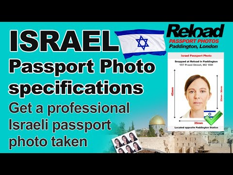 Get Your Israeli Passport Photo Or Visa Photo For Israel Snapped In London, Paddington