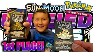 ETHAN GOT 1ST PLACE IN A POKEMON CARDS UNIFIED MINDS TOURNAMENT!! NEW BOOSTER PACKS FOR PRIZES!