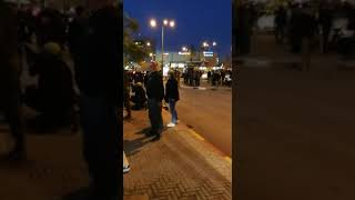 זירת הדקירה בתחנה המרכזית / צילום וואצאפ רץ ברשתות