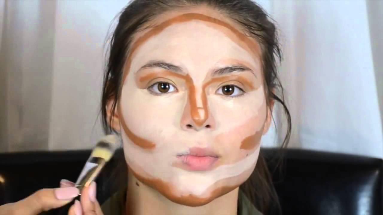 Contouring & Highlighting- Kim Kardashian\'s Makeup - YouTube