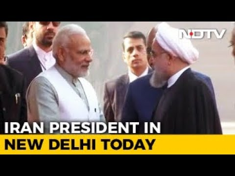Iranian President Hassan Rouhani's Statement After Ceremonial Welcome In Delhi