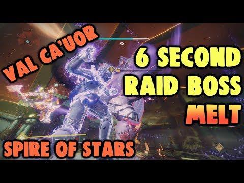 Destiny 2 - 6 Second Val Ca'uor Melt [Spire of Stars Raid Boss]