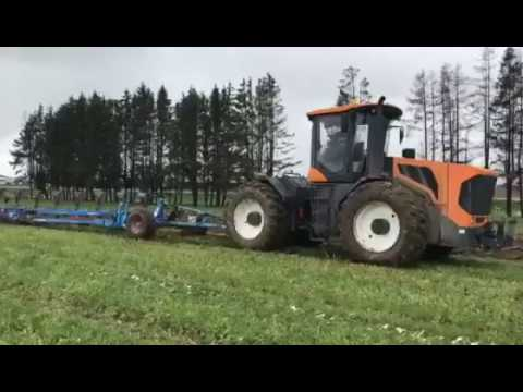 """Вспашка целины трактором """"Амкодор-5300""""с дизелем Д262s2"""
