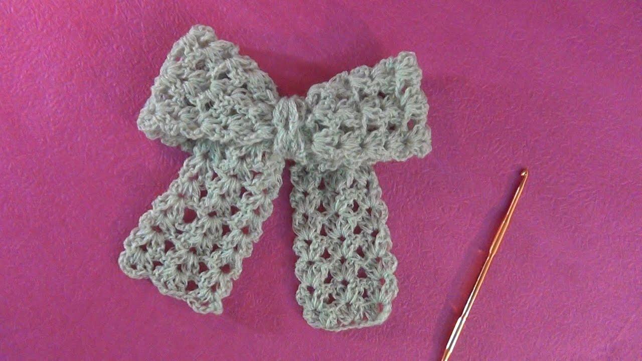 Hướng dẫn móc nơ bằng len I Crochet bow tutorial