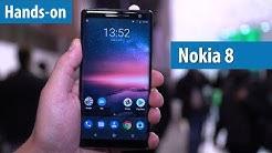 Nokia 8 Sirocco mit 6 GB RAM, 128 GB Flash und LTE 600 im Hands-on @ MWC 2018