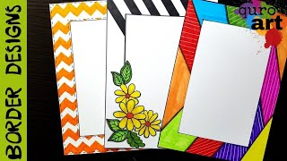 Floral | Border designs on paper | border designs | project work designs | borders for projects