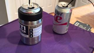 Yeti Coolers Colster temperature test