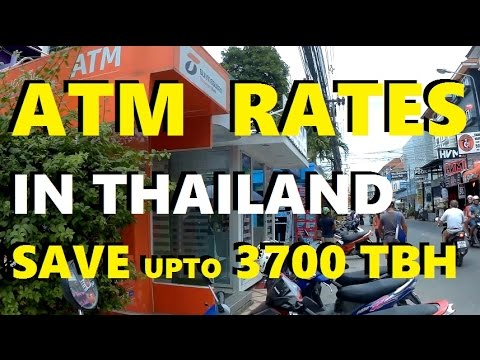 Cheapest ATM rates in Pattaya Thailand - Thanachart vs SCB bank