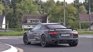 Audi R8 V10 Plus Mule - Lovely sounds on the Nurburgring!