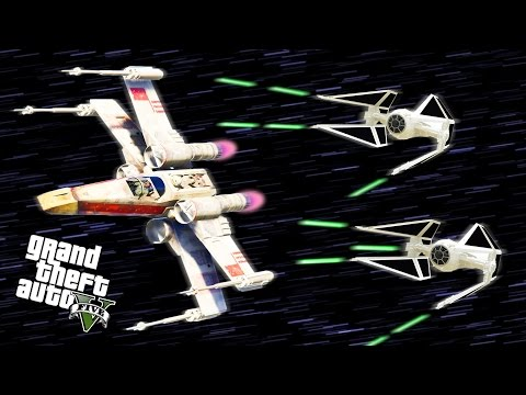 STAR WARS SHIP BATTLES IN GTA 5! - GTA 5 Mods Gameplay