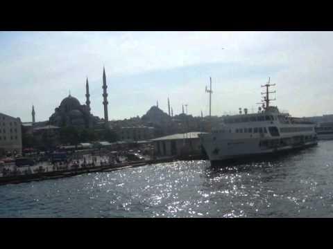 Reaching the European Side in Istanbul, Turkey