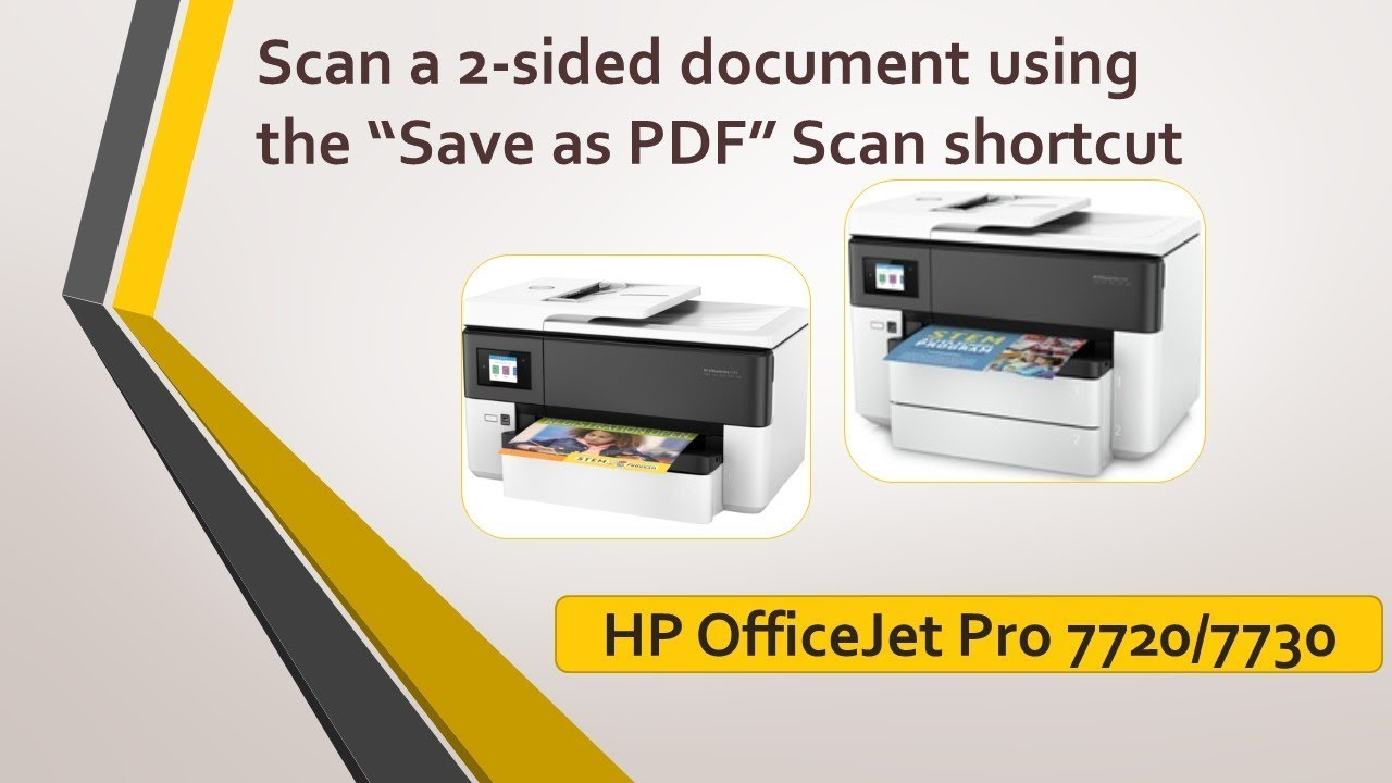 HP OfficeJet Pro 7720 | 7730 Scan a 2 sided document using the