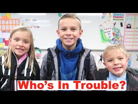 Which Kid is in TROUBLE at School? Parent Teacher Conference 2019