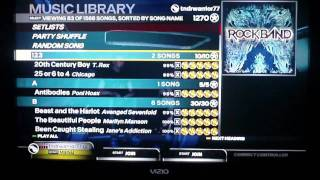 RB3 One Man Band Full Game Gold Stars OMB FGGS! (Setlist Scroll)