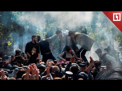 Протесты на КАМАЗах в Ереване