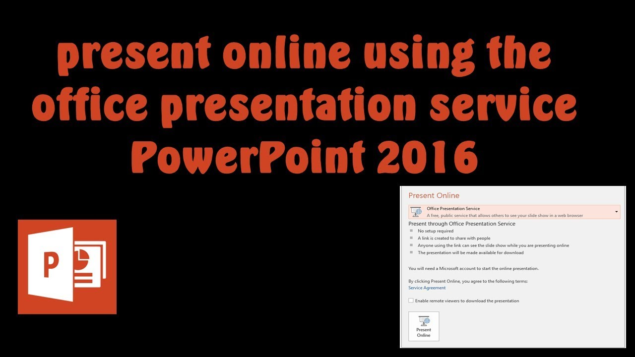 present online with powerpoint 2016 and 2013 youtube