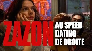 Zazon au speed dating de droite / ISF/ happening