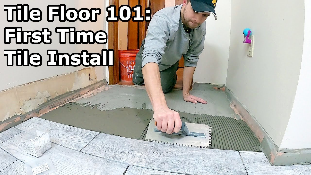 tile floor 101 step by step how to install tile for the first time