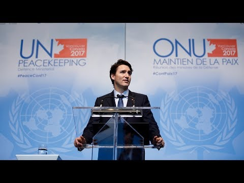 PM Trudeau delivers remarks at the 2017 UN Peacekeeping Defence Ministerial Conference