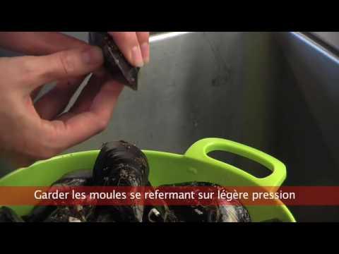 Cuisiner fut nettoyer les moules youtube - Comment cuisiner des moules surgelees ...