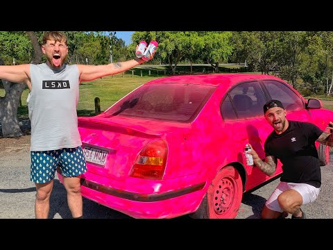 Painting My Friends Car Pink!