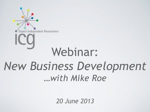 ICG Webinar: Learn the Skills of New Business Development