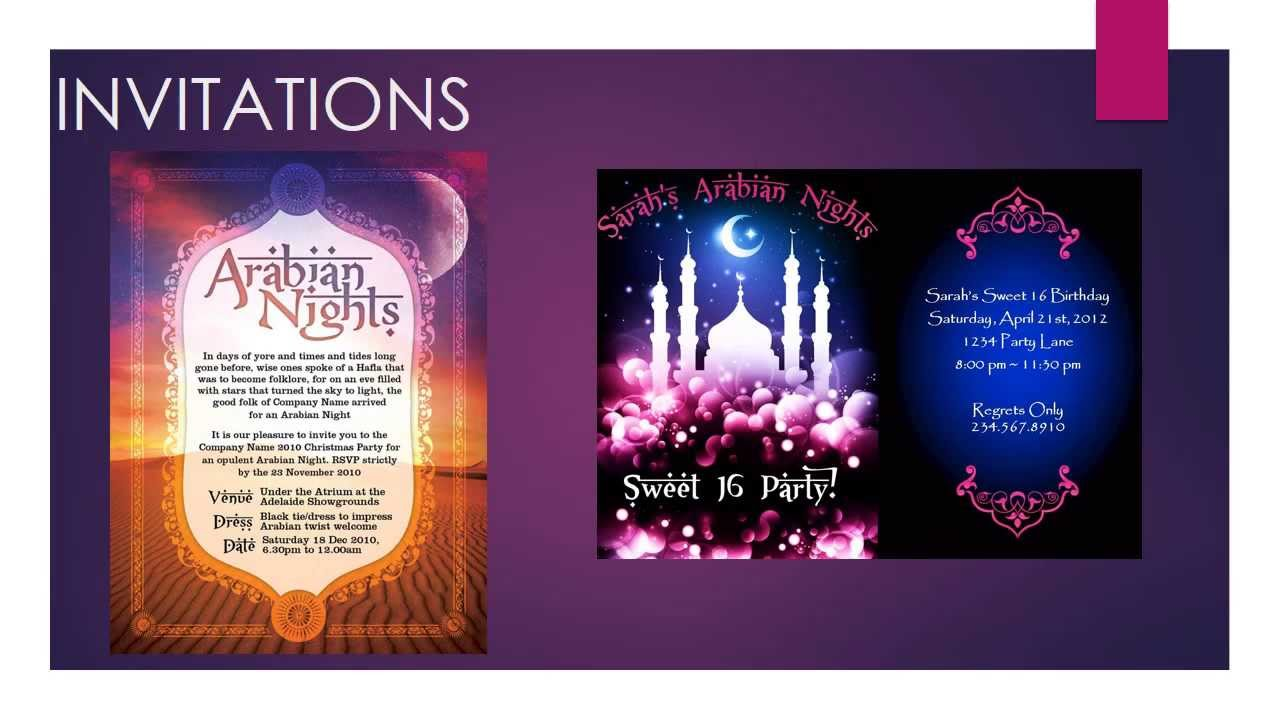 Arabic Invitations as amazing invitations layout