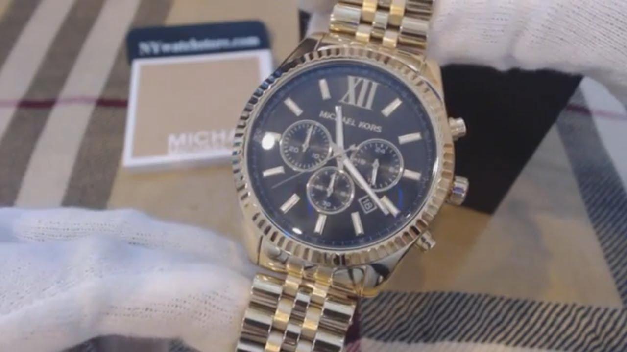 d95ec3163856 Men s Michael Kors Lexington Chronograph Watch MK8286 - YouTube