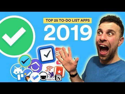 Top 25 Best To-Do List Apps 2019