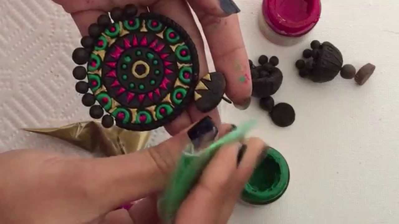 How to paint Terracotta Jewelry- Cone Technique