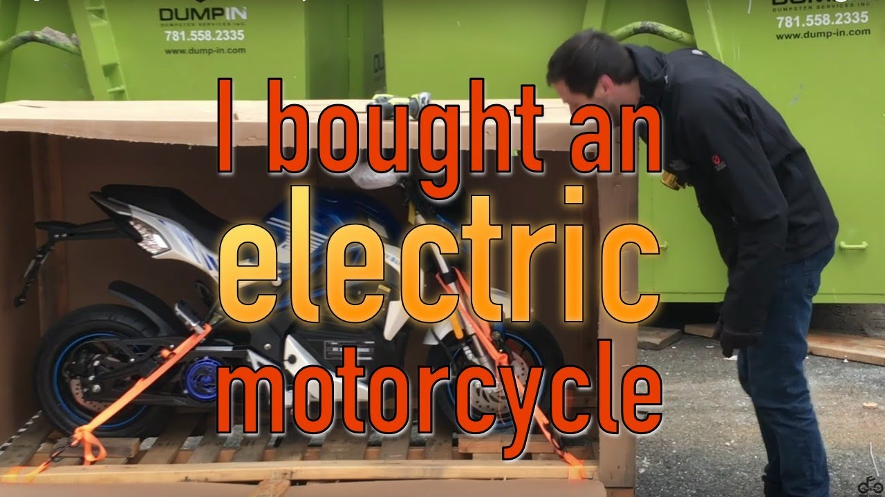 I bought a new $2,800 ELECTRIC motorcycle!