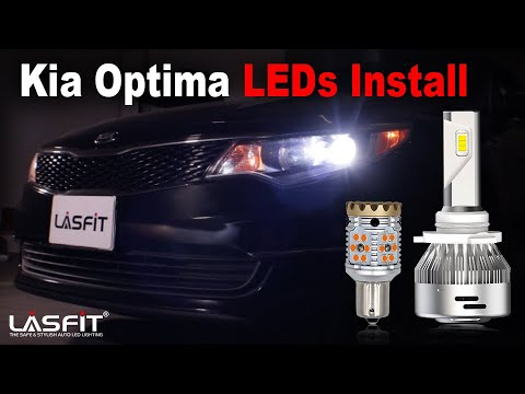 Kia Optima LX 2018 | How to Install LED Headlight Rear turn Signal Bulbs