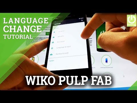 How to Change Language in WIKO Pulp FAB - Language Settings