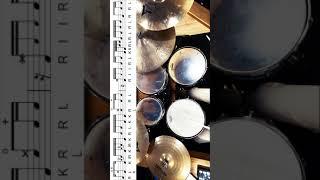 드럼필인, 드럼연주, 드럼레슨, 드럼악보, Drum Fill, Drum Lesson #Shorts