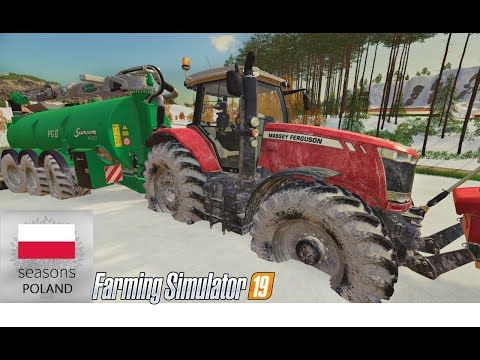 Zima Zastała Beczkę Na Polu. SEASONS  #115 Felsbrunn ☆ Farming Simulator 19  ☆ ㋡ Anton