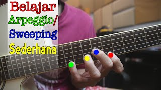Tutorial Teknik Arpeggio / Sweep Picking Sederhana 3 Senar