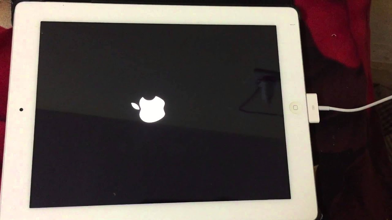 Ipad in low battery and apple logo endless loop
