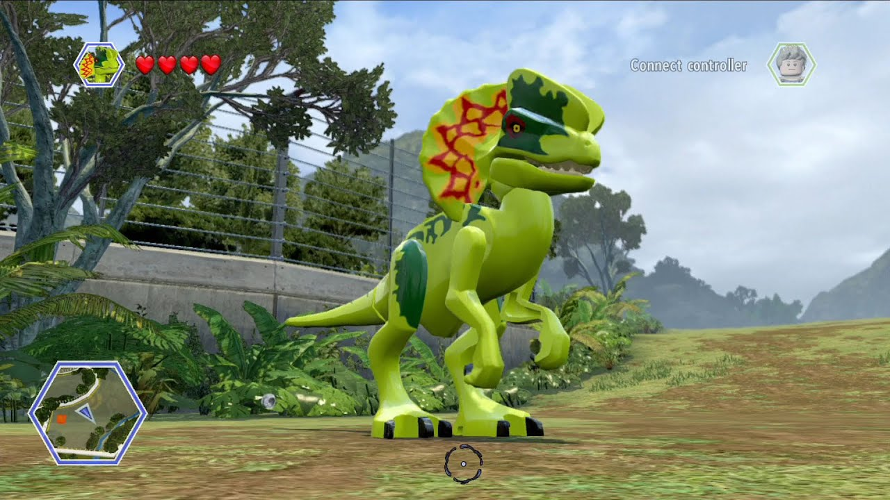 LEGO Jurassic World - Dilophosaurus Free Roam Gameplay [HD ...