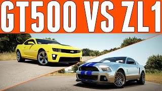 Forza Horizon 2 Versus : Ford Mustang Shelby GT500 vs Chevrolet Camaro ZL1