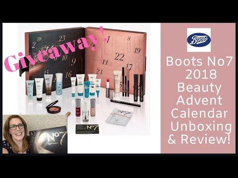 Feisty Hacks Boots No7 Beauty Advent Calendar 2018 Unboxing Review Giveaway