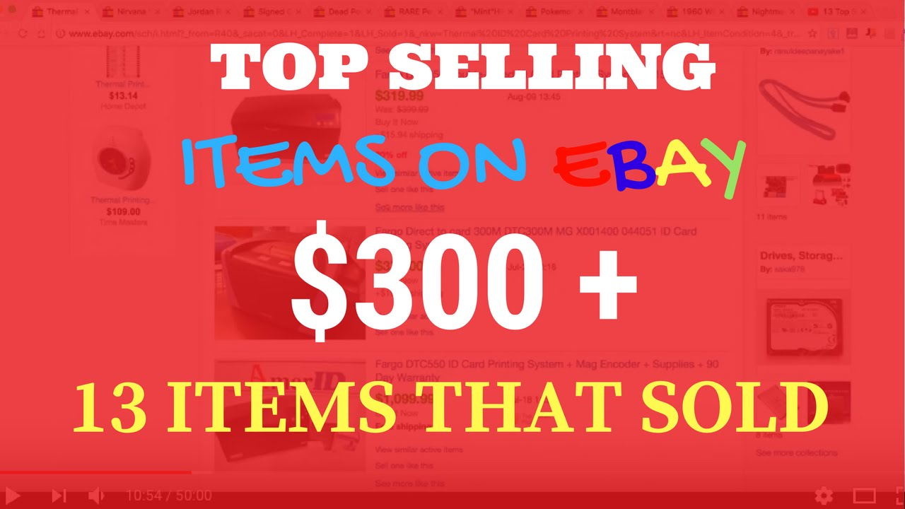13 Top Selling Items That Sold On Ebay For Ridiculous Profits Youtube