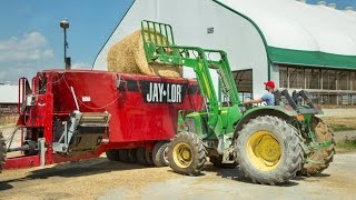 Jaylor 5850 Tmr Mixer: Dairy Ration On Armstrong Manor Farm
